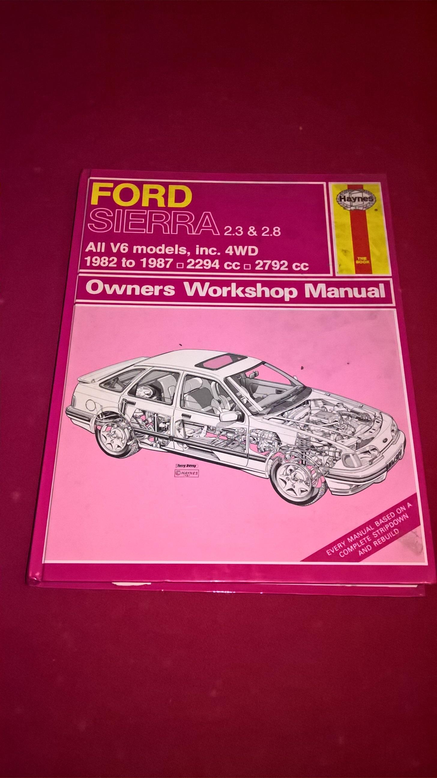 ford sierra   owners workshop manual pca dealer